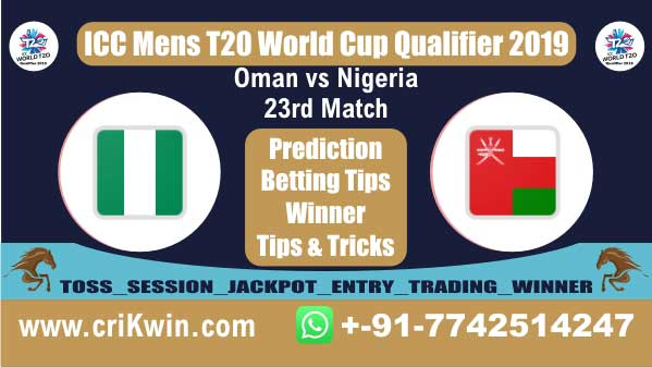 WC T20 Qualifier 100% Sure Today Match Prediction winning chance of NIG vs OMN 23rd Cricket True Astrology Winner Toss Tips Who will win today