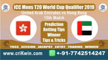 T20 Qualifier 100% Sure Today Match Prediction HK vs UAE 15th T20 Match Cricket True Astrology Winner Tips Toss Reports UAE vs HK Who will win today