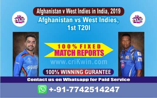 1st T20 Today Match Prediction WI vs AFGH Match Who Will Win Sure