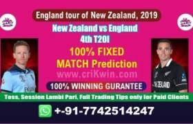 4th T20I Today Match Prediction Nzl vs Eng Match Who Will Win