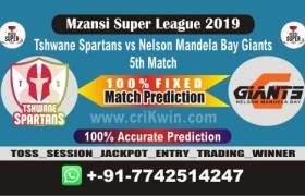 MSL 2019 Today Match Prediction NMG vs TS 5th Match Who Will Win