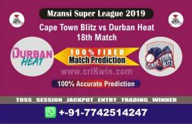 MSL T20 2019 Today Match Prediction DUR vs CTB 18th Who Will Win