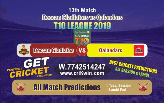 T10 League 2019 Today Match Prediction QAL vs DEG 13th Who Will Win