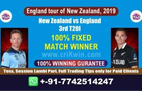 Today Match Prediction Nz vs Eng 3rd T20I Who Will Win 100% Sure Tips