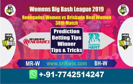 WBBL 2019 Today Match Prediction BH-W vs MR-W 38th Who Will Win