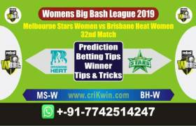 WBBL 2019 Today Match Prediction BHW vs MSW 32nd Match Will Win