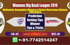 WBBL 2019 Today Match Prediction MR-W vs HB-W 29th Match Will Win