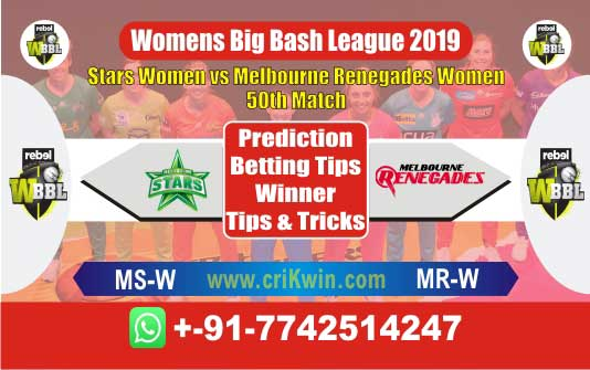 WBBL 2019 Today Match Prediction MSW vs MRW 50th, Who Will Win