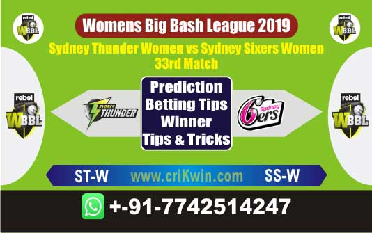 WBBL 2019 Today Match Prediction SSW vs STW 33th Match Will Win