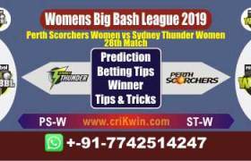 WBBL 2019 Today Match Prediction ST W vs PS W 28th Match will Win