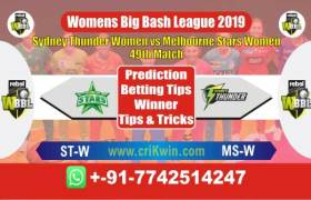 WBBL 2019 Today Prediction MSW vs STW 49th Match Who Will Win