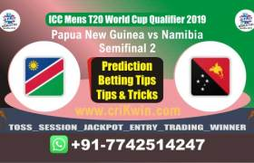 WC T20 Qualifier Today Match Prediction NAM vs PNG Semifinal Match