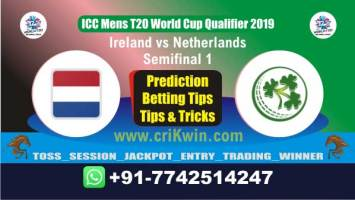 WC T20 Qualifier Today Match Prediction NED vs IRE Semifinal Match