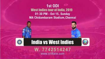 100% Sure Today Match Prediction Wi vs Ind 1st ODI - criKwin