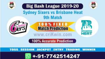 BBL T20 2019-20 Today Match Prediction HEA vs SIX 9th 100% Sure Win