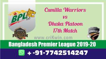 BPL 2019-20 Today Match Prediction DHP vs CUW 17th 100% Sure Win