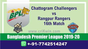 BPL 2019-20 Today Match Prediction RAN vs CCH 16th 100% Sure Win