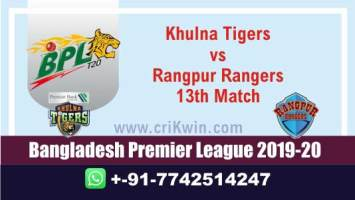 BPL 2019-20 Today Match Prediction RAN vs KHT 13th 100% Sure Win