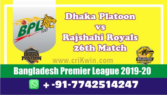 BPL 2020 Today Match Prediction DHP vs RAR 26th 100% Sure Win