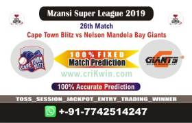 MSL 2019 Today Match Prediction NMG vs CTB 26th Who Will Win toss