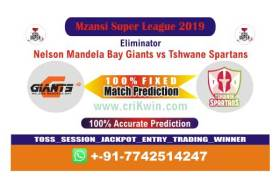 MSL 2019 Today Match Prediction TST vs NMG Eliminator 100% Sure Win