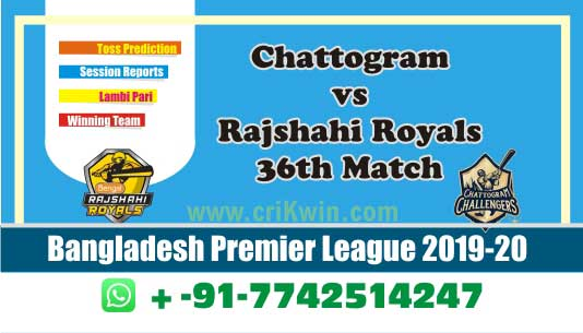 BPL 2020 Today Match Prediction CCH vs RAR 36th 100% Sure Win