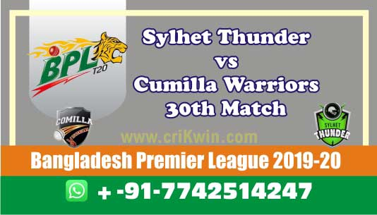 BPL 2020 Today Match Prediction CUW vs SYL 30th 100% Sure Win