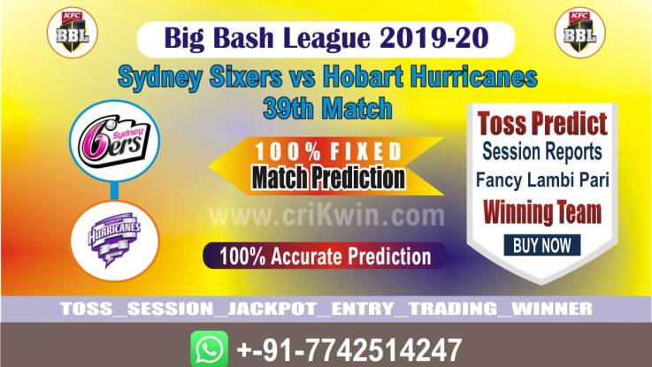 HOB vs SYS cricket win tips