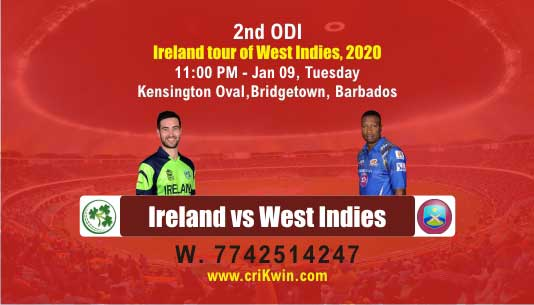 ODI Match Prediction Today WI vs IRE 2nd ODI 100% Sure Win