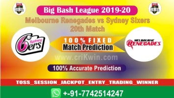 Today Match Prediction SYS vs MLR 20th BBL T20 2020 100% Sure Win