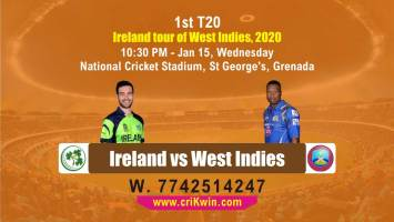 today match prediction Ireland tour of West Indies 2020