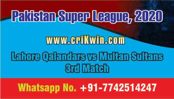 Today Match Prediction LAH vs MUL PSL 3rd T20 100% Sure Win Tips