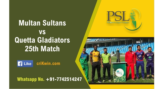 100% Sure Today Match Prediction QUE vs MUL 25th PSL T20 Win Tips