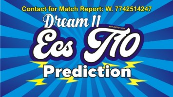 Dream 11 ECS All match prediction