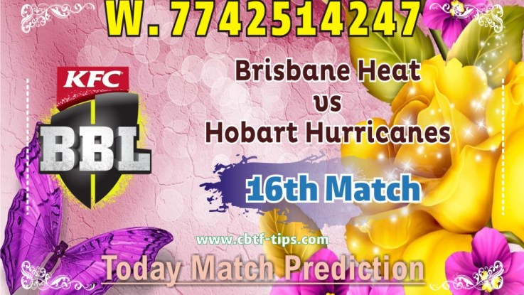 100% Sure Today Match Prediction BRH vs HBH BBL T20 Win Tips