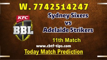 100% Sure Today Match Prediction Adelaide vs Sixers BBL T20 Win Tips