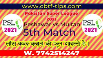 100% Sure Today Match Prediction Multan vs Peshawar PSL T20 Win Tips