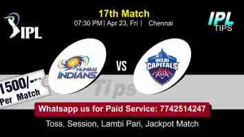 MI vs PBKS IPL T20 17th Match 100% Sure Today Prediction Win Tips