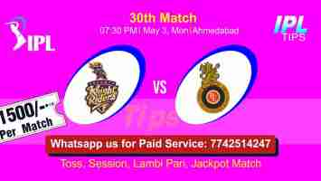 Today Match Prediction BLR vs KOL 30th Match Who Will Win IPL T20 100% Sure? Kolkatta vs Bangalore Indian Premier League Predictions
