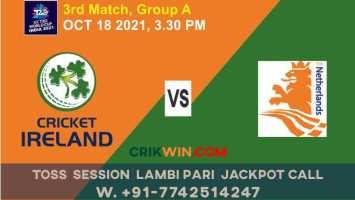 Match 3rd WC T20 : NED vs IRE Today Match Prediction 100% Sure Rajababu