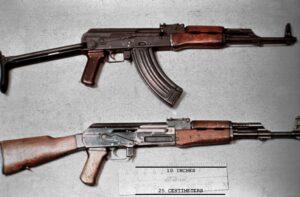 De AK-47 (Avtomat Kalasjnikova obraztsa 1947 goda).