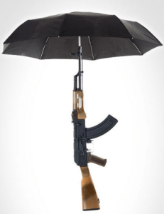 De AK-47 paraplu.