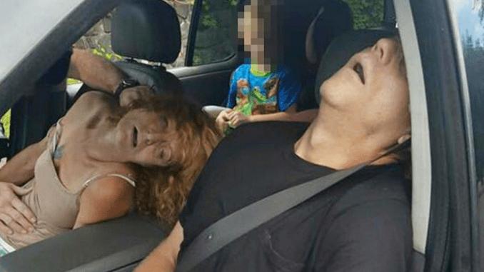 heroine overdosis foto, politie ohio heroine