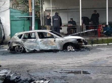 сожжённые авто