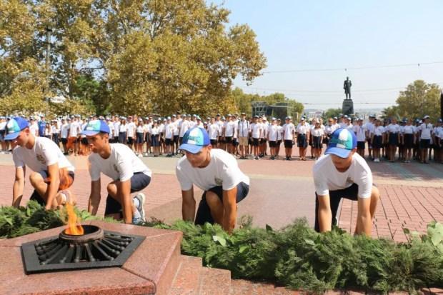 Всероссийский сбор юных моряков в Крыму