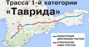 """Трасса """"Таврида"""" в Крыму получила 970 миллионов рублей"""
