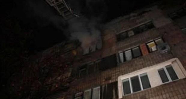 Пожар в селе Мирном под Симферополем. Горел пятиэтажный дом