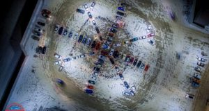 Автовладельцы Симферополя создали... огромную снежинку