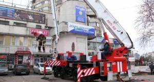 Учения по ликвидации условного пожара в высотном здании Симферополя