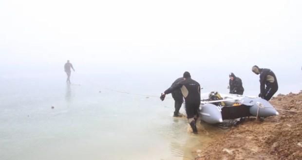 Трое рыбаков провалились под лёд Симферопольского водохранилища